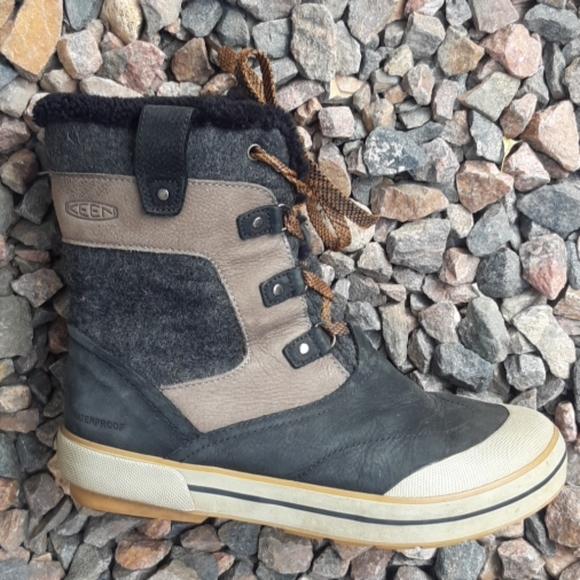Keen black & gray waterproof winter snow boots